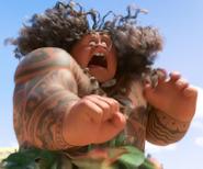 Maui yelling comically