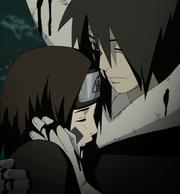 Obito holding Rin
