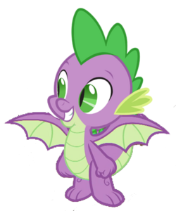 Spike the Dragon (Now with Wings)