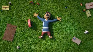 Bodi lying down the ground