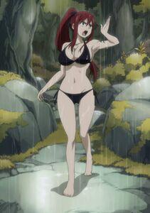 Erza scarlet bikini in the rain