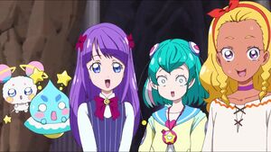 STPC21 Prunce, Fuwa, Madoka, Lala and Elena are surprised