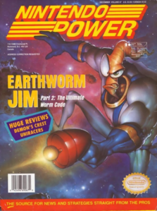 Earthworm Jim - Earthworm Jim as he appears on the front cover of Nintendo Power