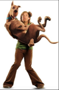 Live action Shaggy with Scooby