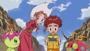 Palmon, Mimi, Koshiro and Tentomon