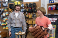 Richie and Clark at the Sports Store