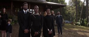 T'Challa, Okoye & Shuri-Funeral
