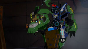 Grimlock and Strongarm are now on up.
