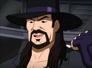 The Undertaker grins!