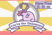 Kirby - Nightmare in Dreamland kirby with trophy