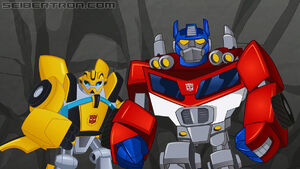 Optimus Prime and Bumblebee (Bot to the Future)