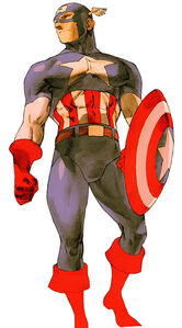 Captain America in Marvel vs. Capcom 2 New Age of Heroes