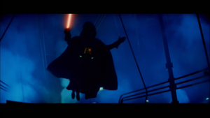 Darth Vader leaping