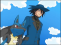 Riley with Lucario.