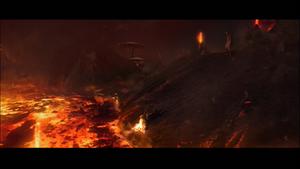 Vader burning