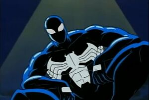 Peter Parker (Earth-92131) and Venom (Klyntar) (Earth-92131) from Spider-Man The Animated Series Season 1 8 0001