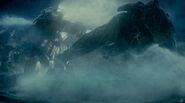 Jaegar fighting a Kaiju