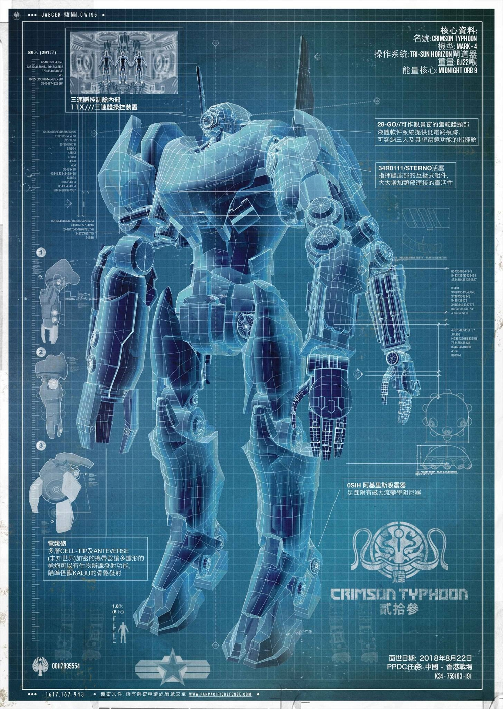 Crimson typhoon jaeger pacific rim wiki fandom powered by wikia ppdc blueprints of the crimson typhoon malvernweather Images