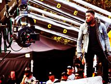 Boyega on Set of PacRim2