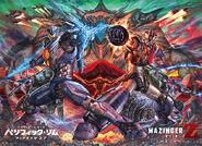 Mazinger Z Pacific Rim Uprising Crossover Poster (Nagai Kazuagi)