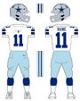 Cowboys white uniform