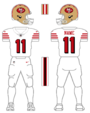 49ers alternate uniform