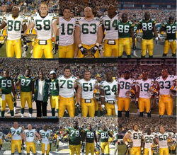 Aaron Rodgers photobombs every team captain picture