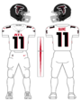 Falcons white uniform