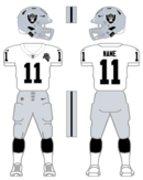 Raiders white uniforms