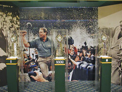 Super Bowl trophies at old Packers Hall of Fame