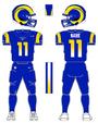 Rams color uniform