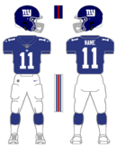 Giants color uniform