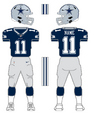 Cowboys color uniform