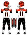 Cincinnati Bengals white uniform