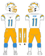 Chargers white uniform