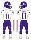 Minnesota Vikings white uniform