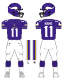 Minnesota Vikings color uniform