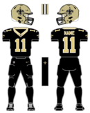Saints color uniform