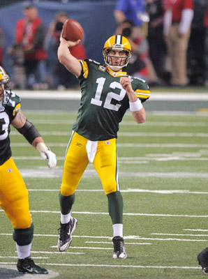 Aaron Rodgers XLV Touchdown Pass