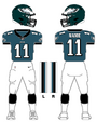 Eagles color uniform