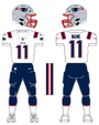 Patriots white uniform