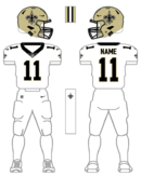 Saints white uniform