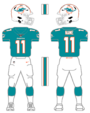 Miami Dolphins home uniform 2013