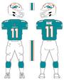 Miami Dolphins home uniform 2013