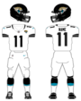 Jacksonville Jaguars road uniform 2013