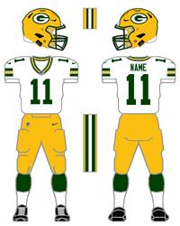 Packers white uniform