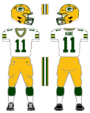 Packers white uniform