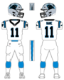Panthers white uniform