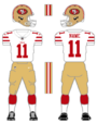 49ers white uniform