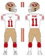 49ers white uniform